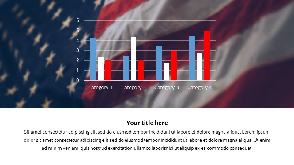 You can customize the infographics in the colors of your country.