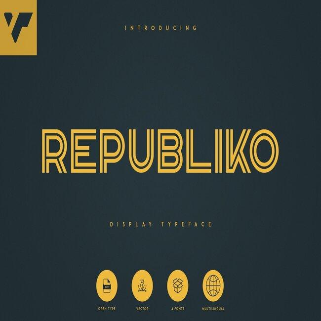 Republiko – Display Typeface Cover image.