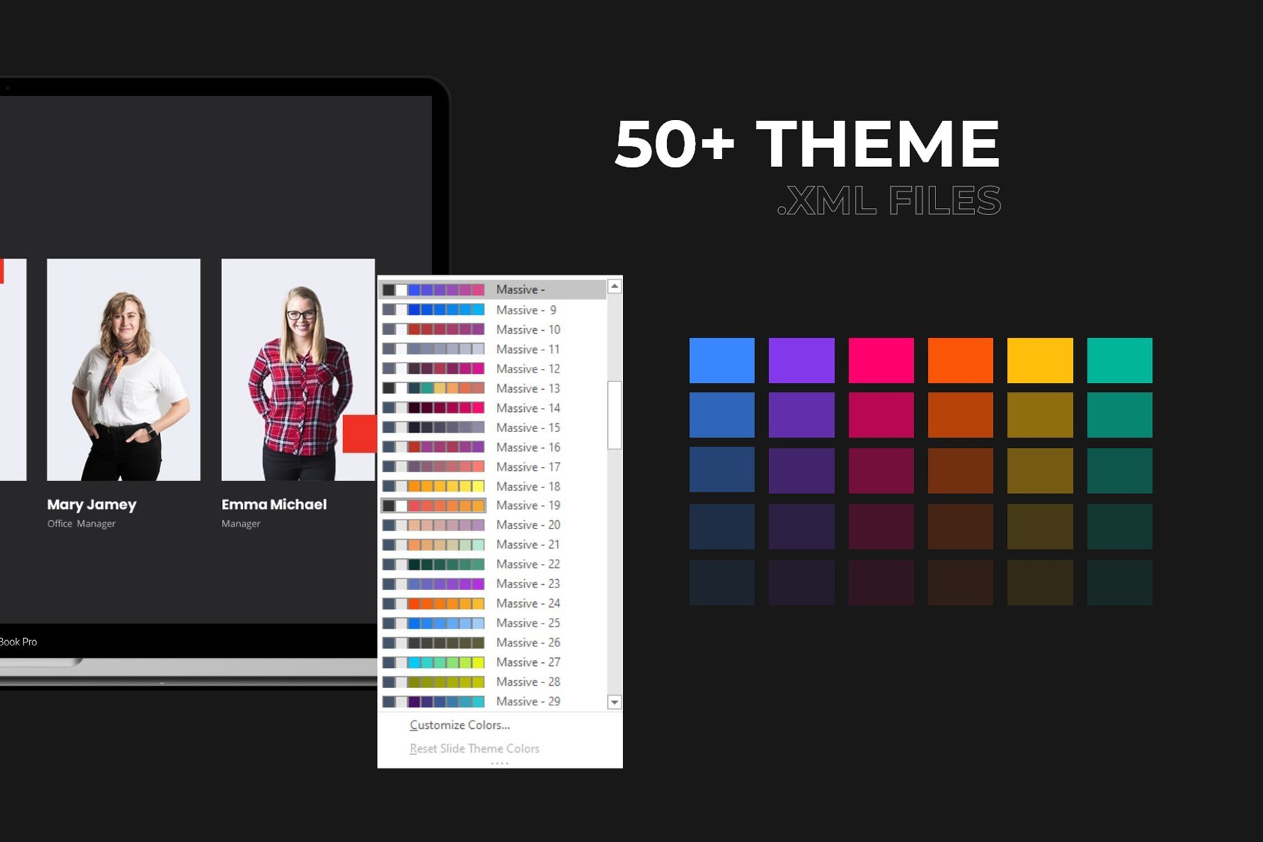 Color theme of presentation.