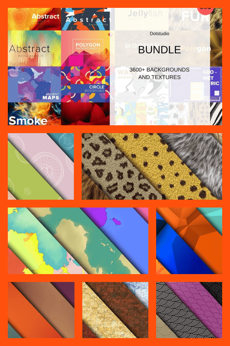 Bright backgrounds and textures.
