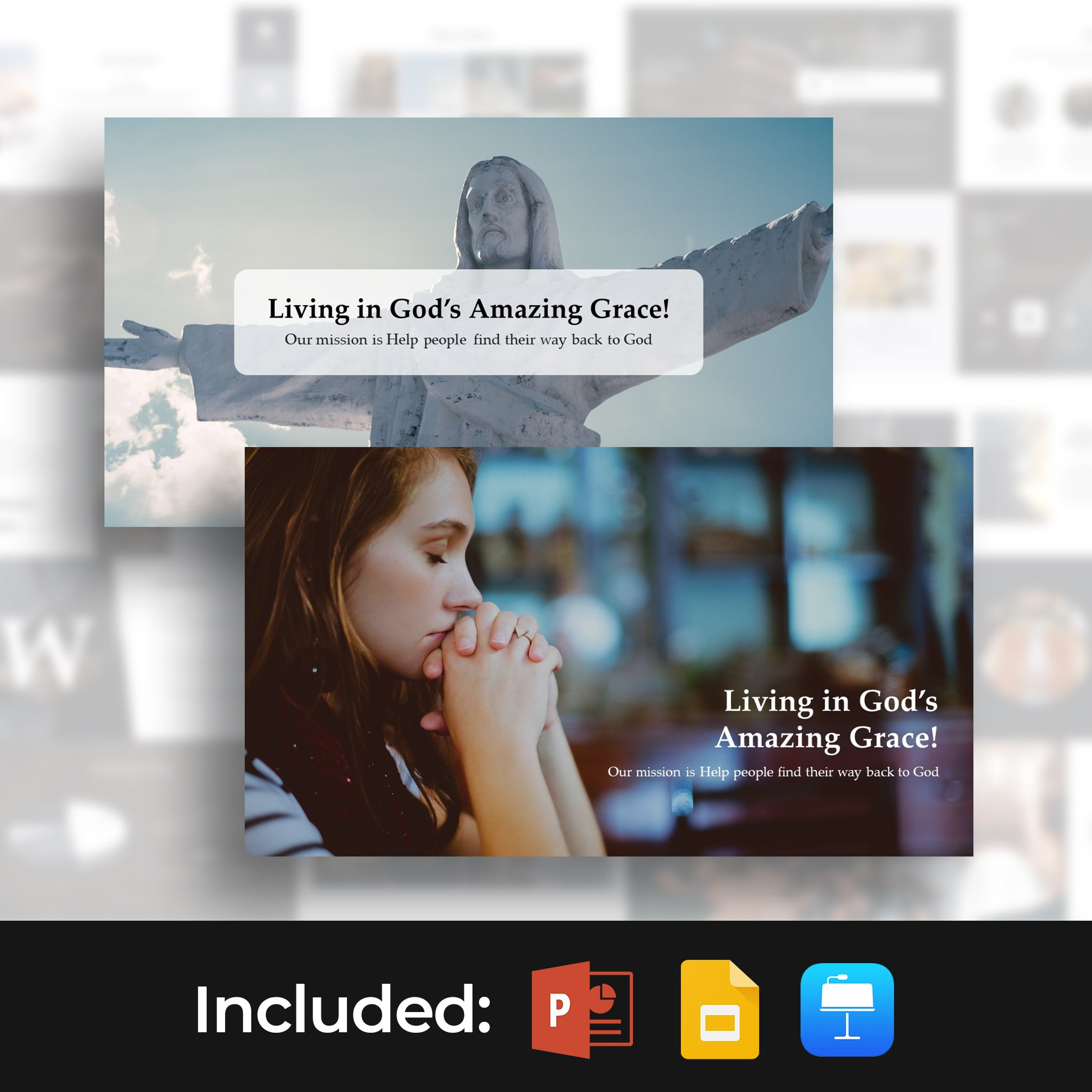 Worship Presentation Template. Main cover image.