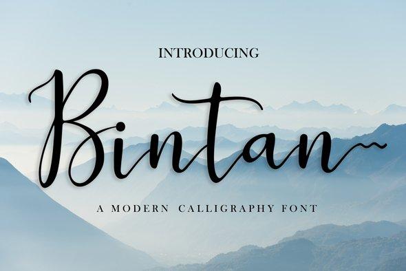 Bintan font Example.