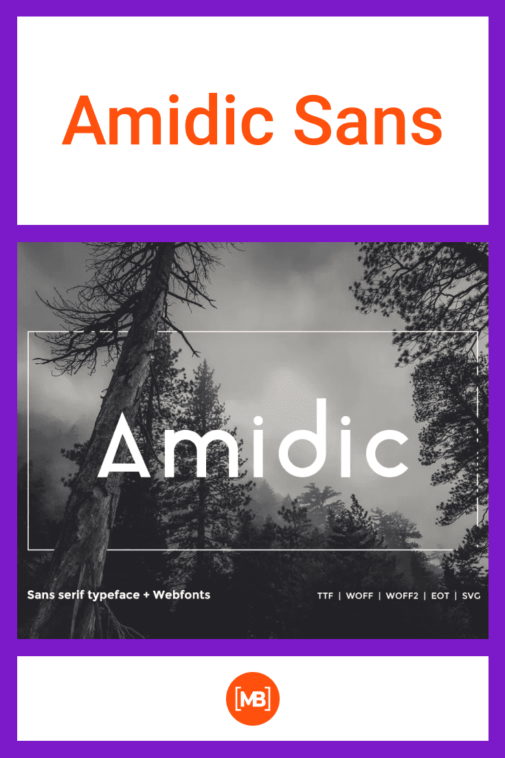 Each letter has its own place. The font is modern and stylish. Smooth and persistent, like an oak in the forest.