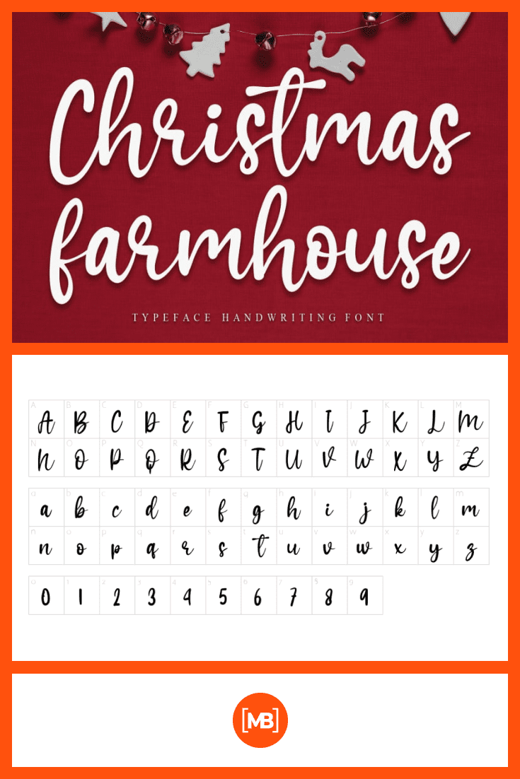 Festive font with elements of Christmas decor.