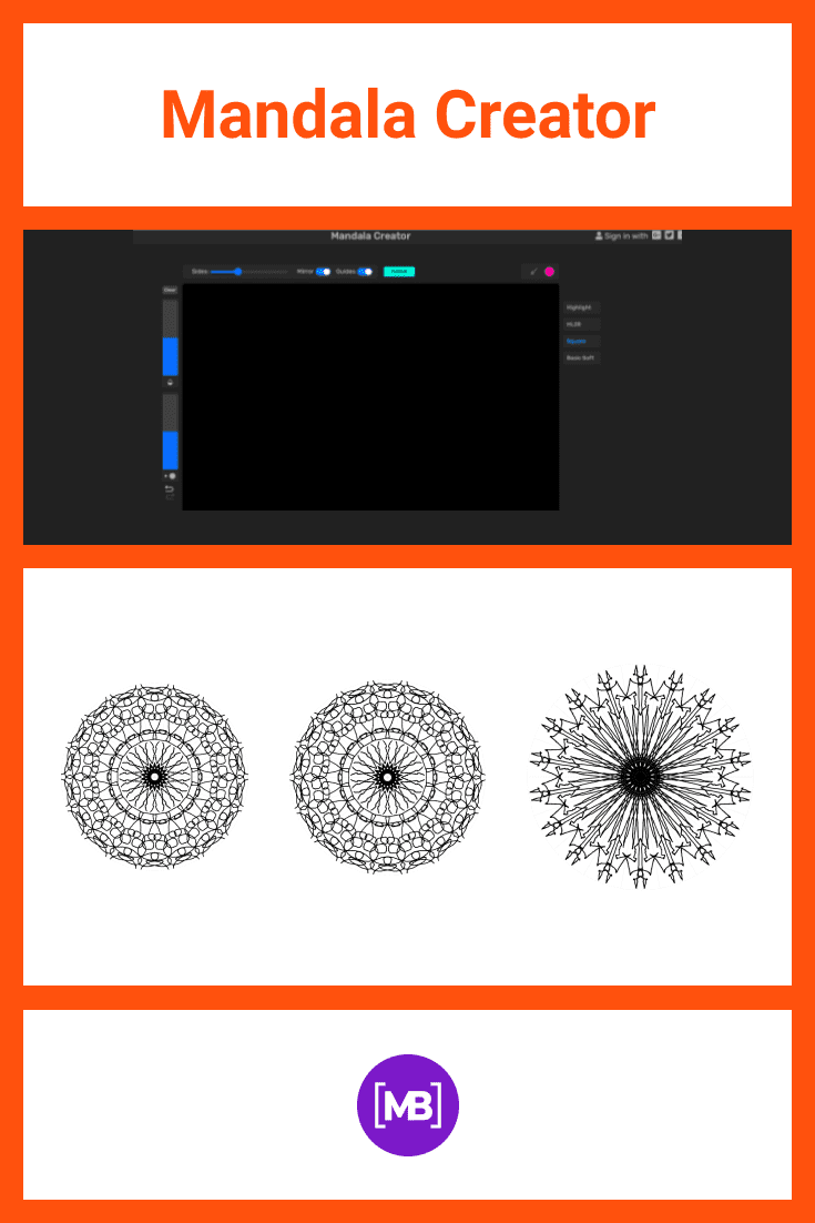 Here you decide what your mandala will be. You can create it in a classic style or with modern variations.