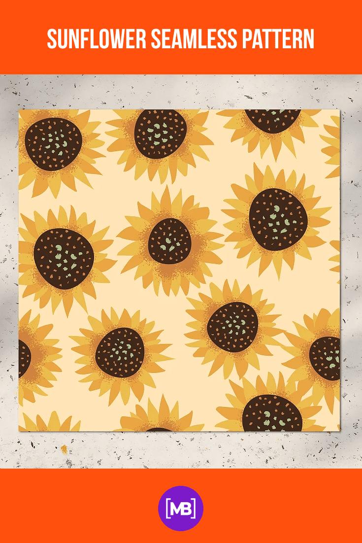 Cartoon sunflowers drawn in pencil.