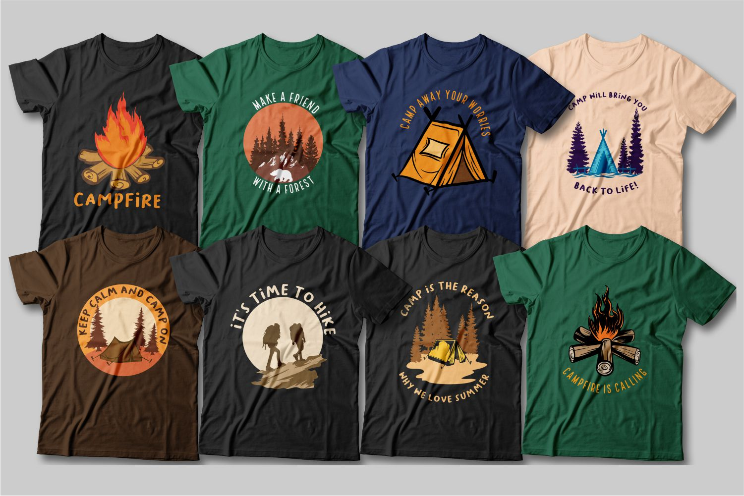 Graphic T-shirts for outdoor activities and hiking.