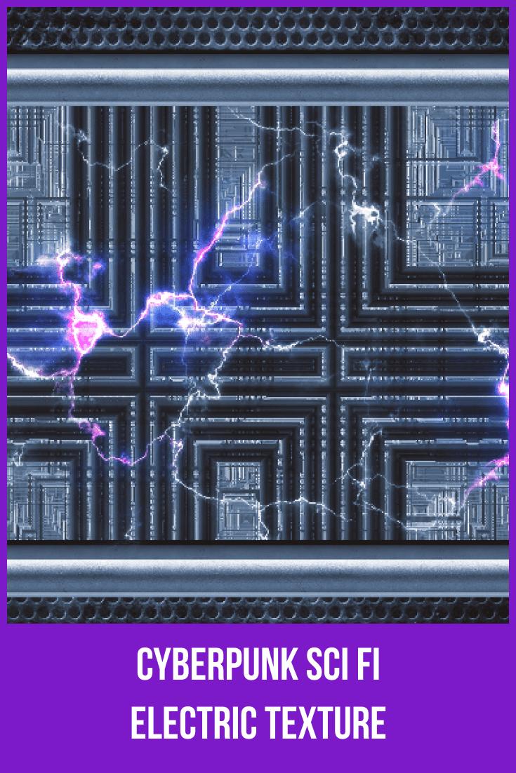Cyberpunk Sci Fi Electric Texture.