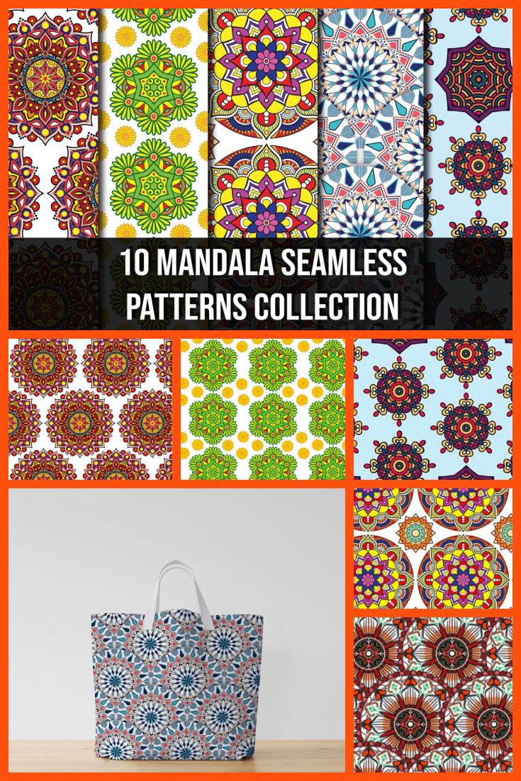 Bright mandala to decorate any texture.