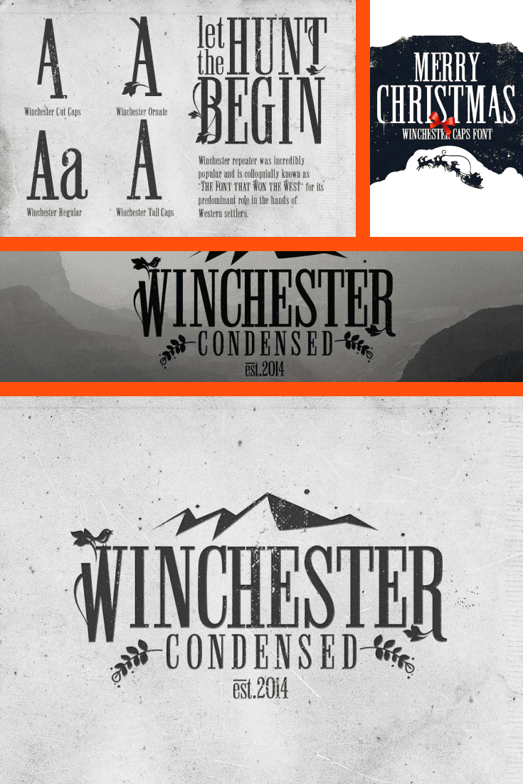 You don't know anything about the Wild West if you haven't seen this font. In dark colors, it will look great in any text.