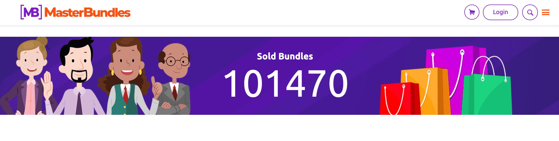 100000 sold bundles. Site screenshot.