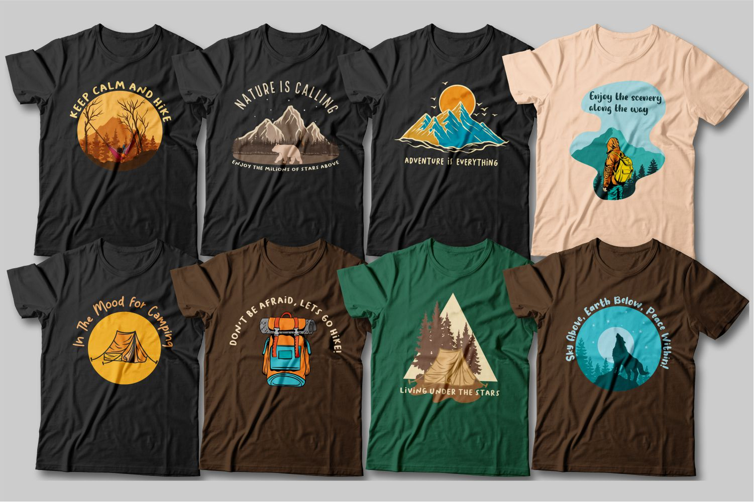 There are never too many mountains. These T-shirts are about freedom and choice. About love for nature.