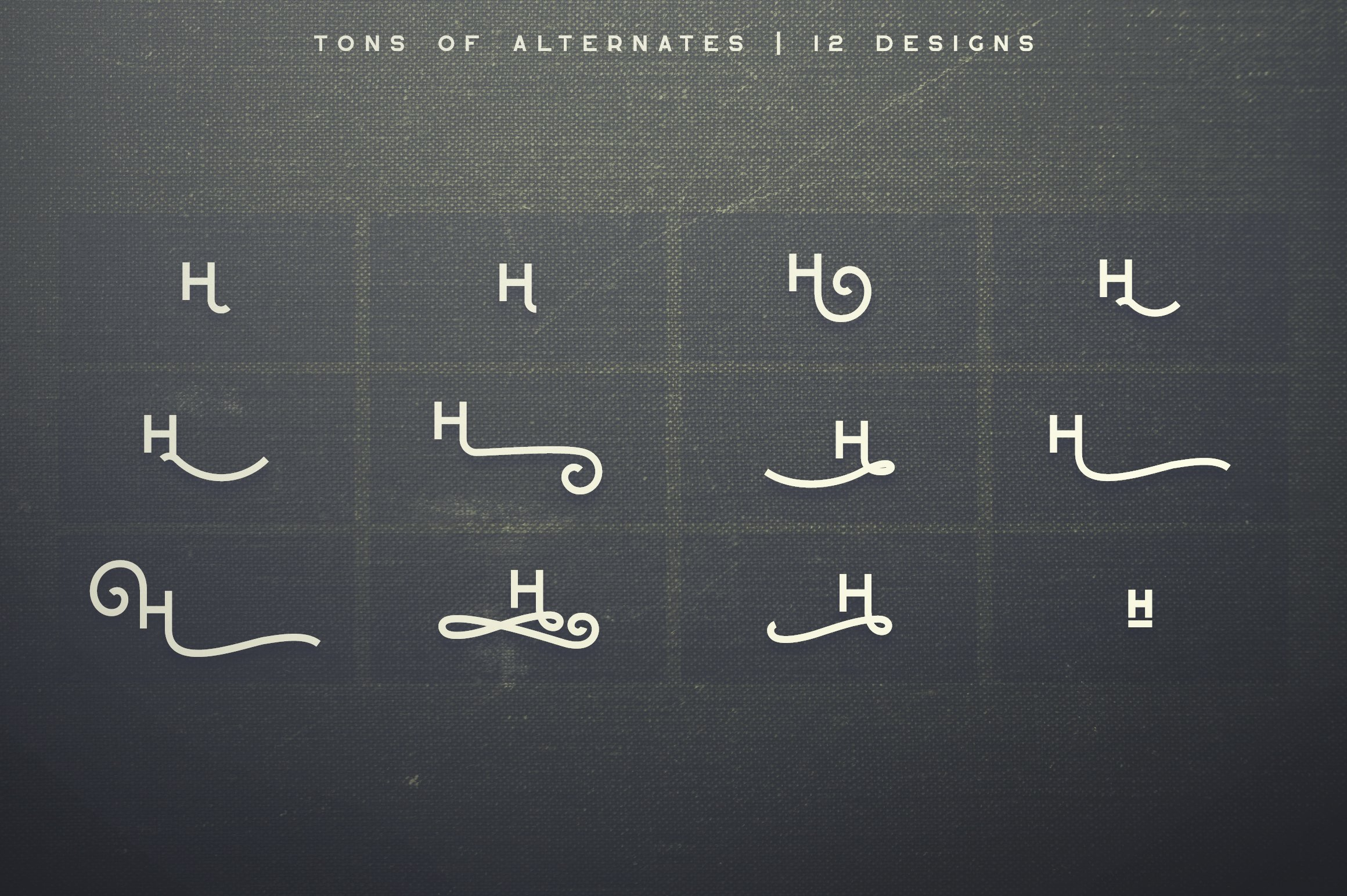 Alternative font. Greenth Display   Latin & Cyrillic Font.