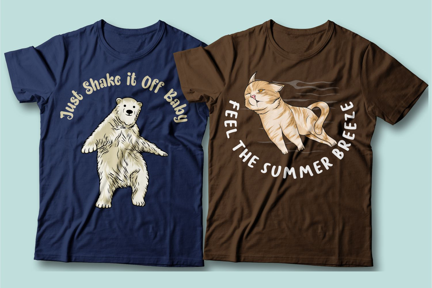 Dancing bear and flying cat. Something you just don't see on these T-shirts.