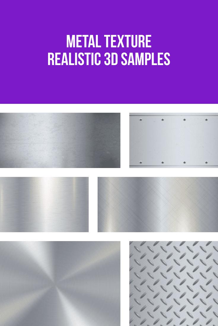 Metal texture realistic 3D samples.