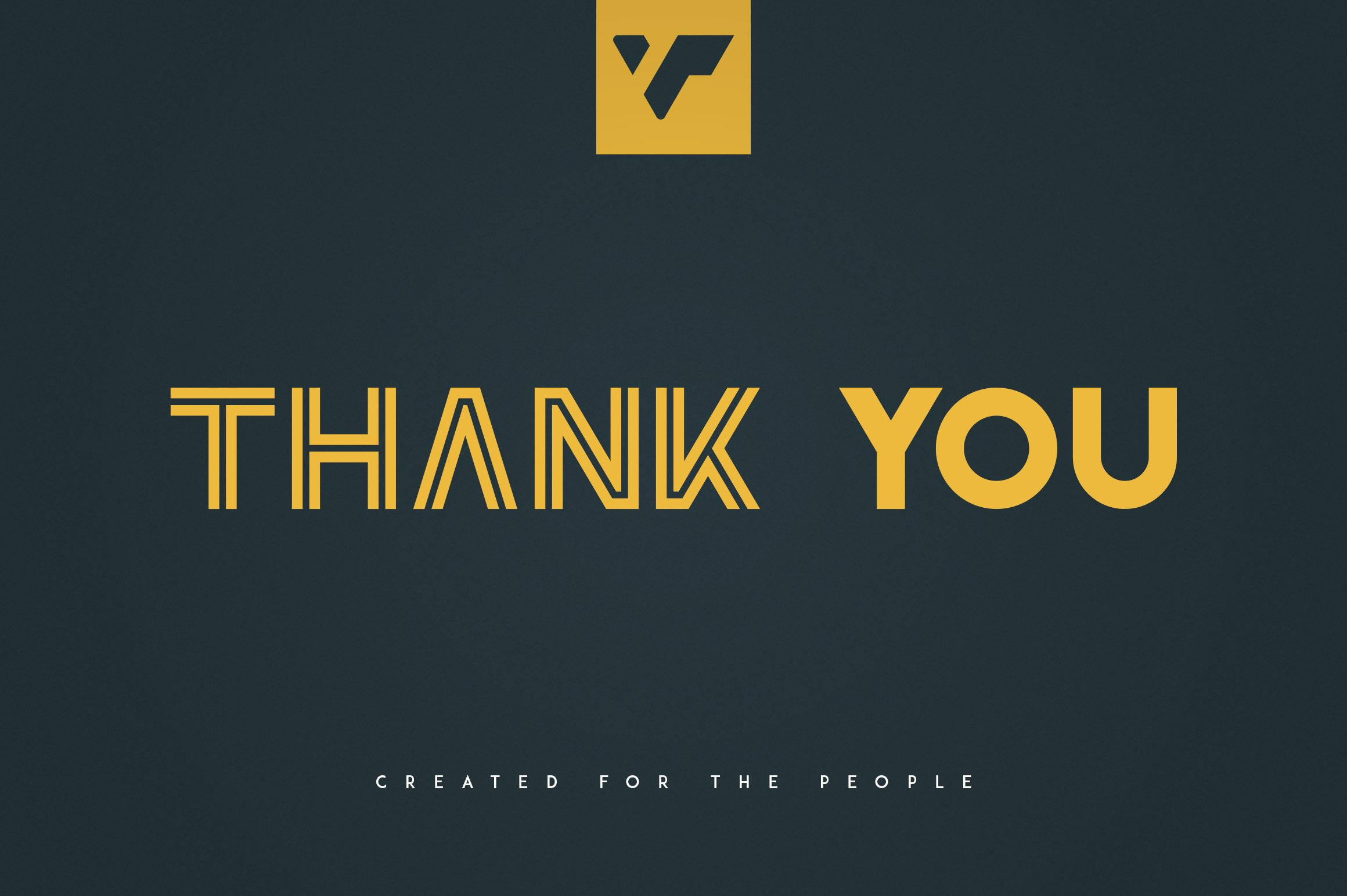 The last slide with this beautiful yellow font. Republiko.
