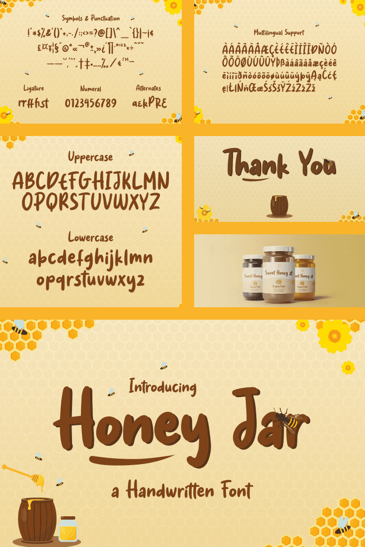 Such a yellow and sweet font. The taste of fresh honey is immediately felt.