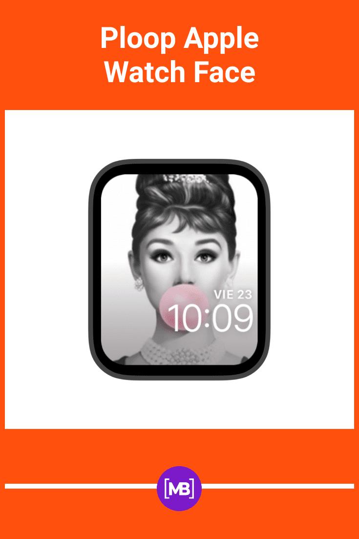Screen with Audrey Hepburn.