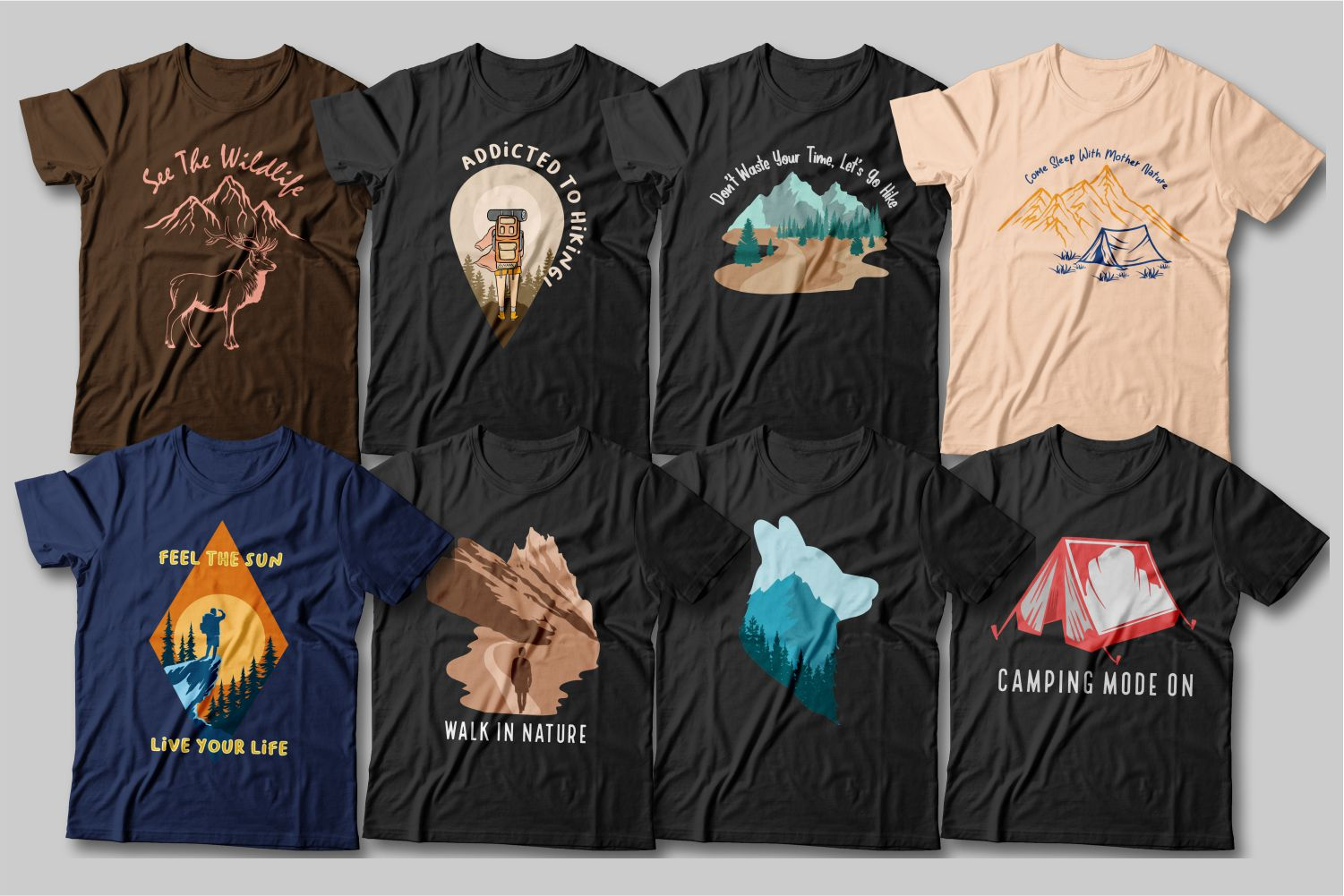 Each T-shirt has its own graphics. Each graphic is like a work of art and a real find for nature lovers.