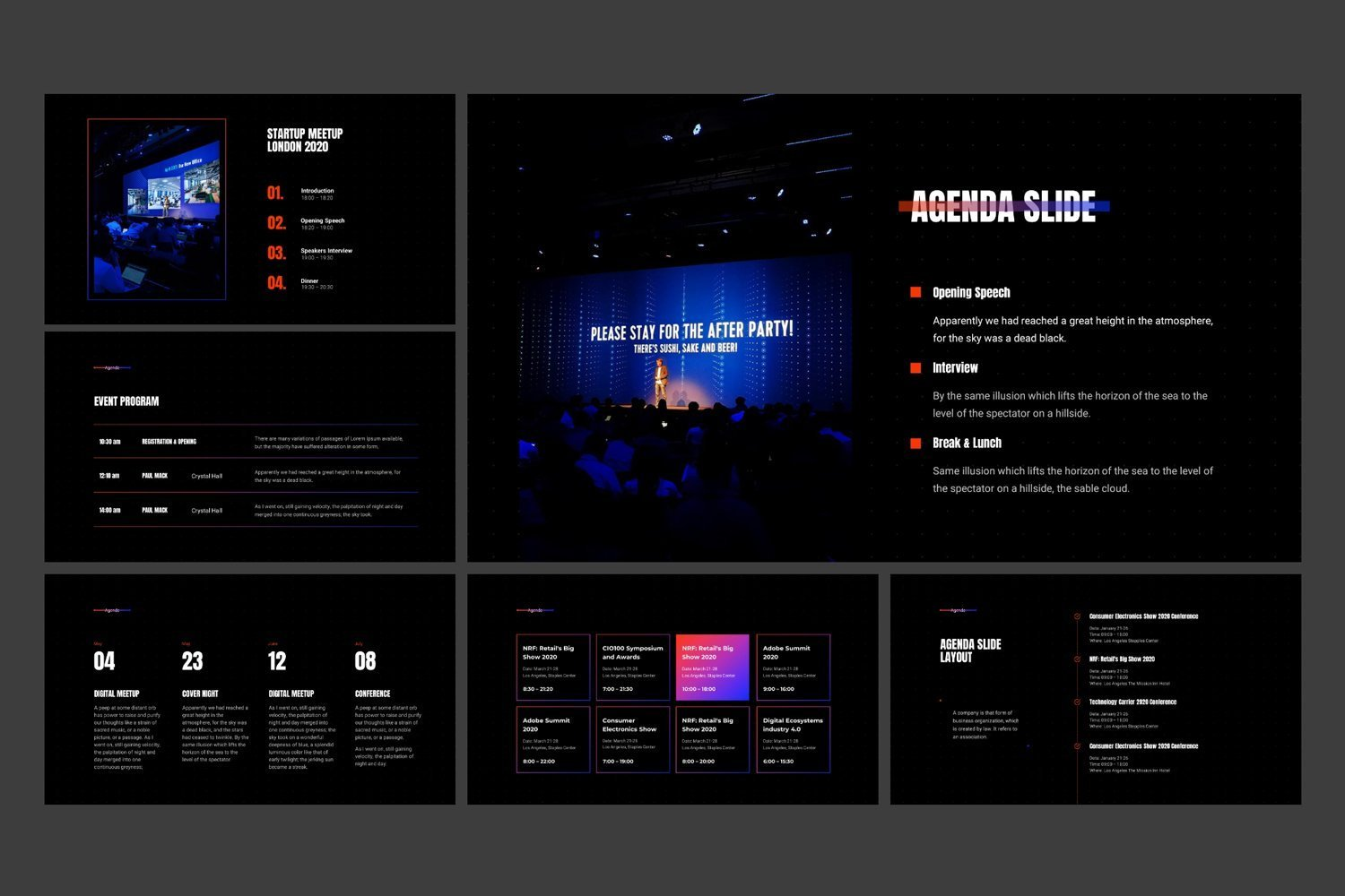 This template use modern fonts and colorful graphics elements.