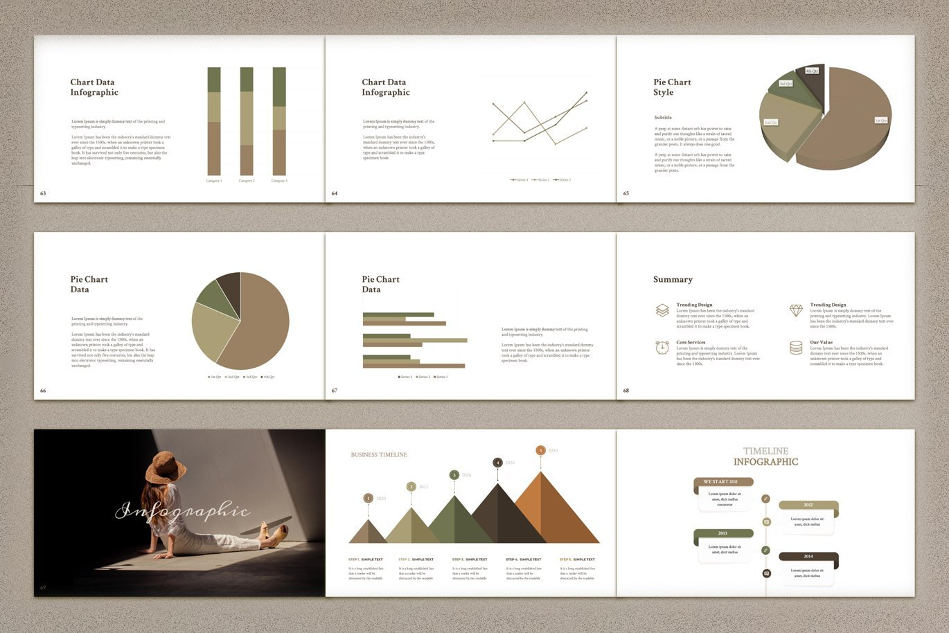 Also you will have opportunity choose infographics in your style or your company.