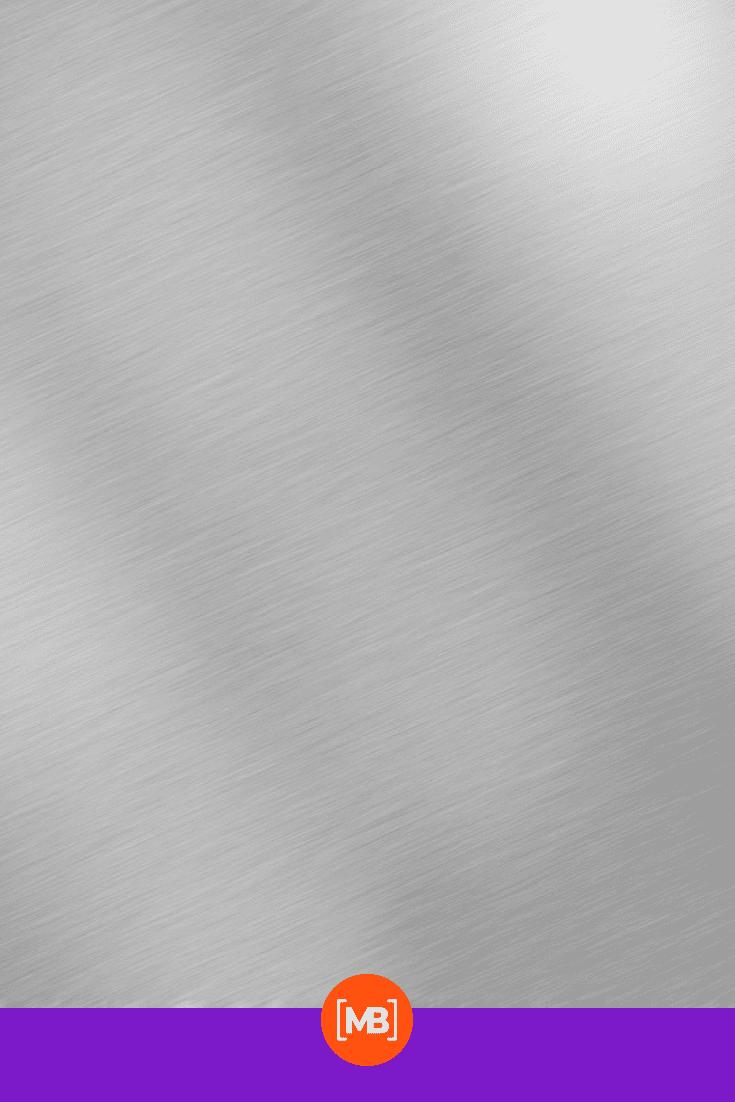 Brushed metallic texture.