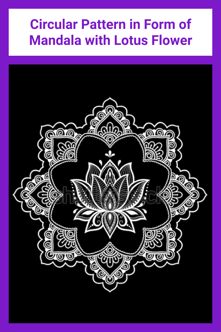 A very interesting mandala with a lotus flower inside.