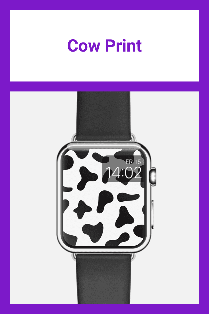 Animal print in the form of a cow.