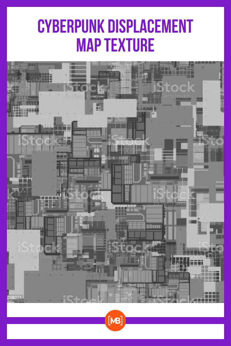 Cyberpunk Displacement Map Texture.