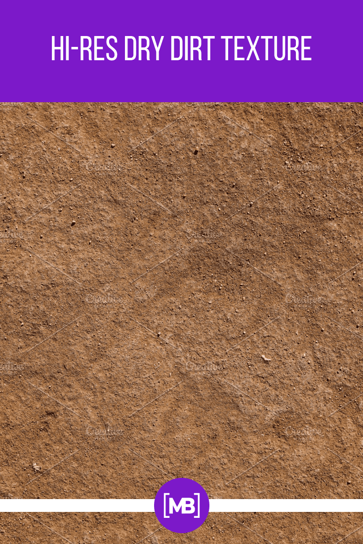 The texture is created with the effect of a brown soil.