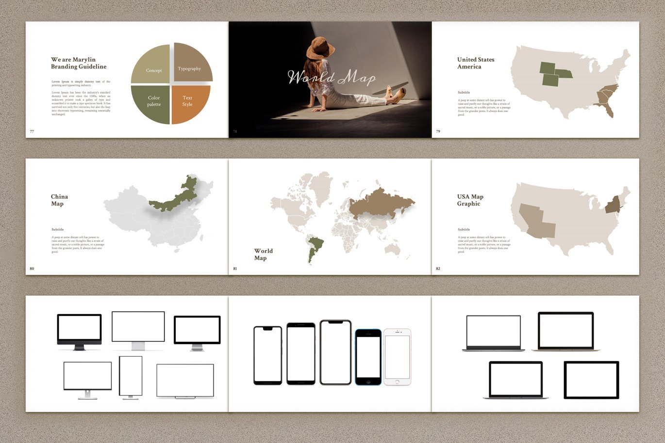 There are many maps which you can include to your presentation.