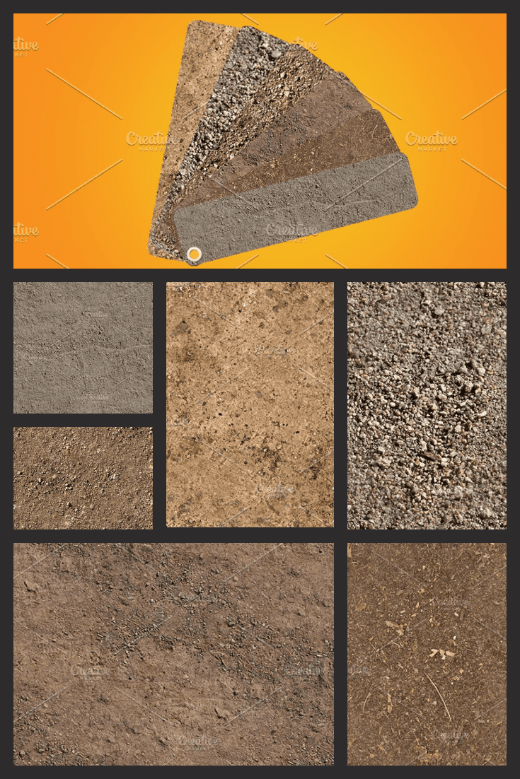 The surface of the earth can be different. This texture displays the most popular options.