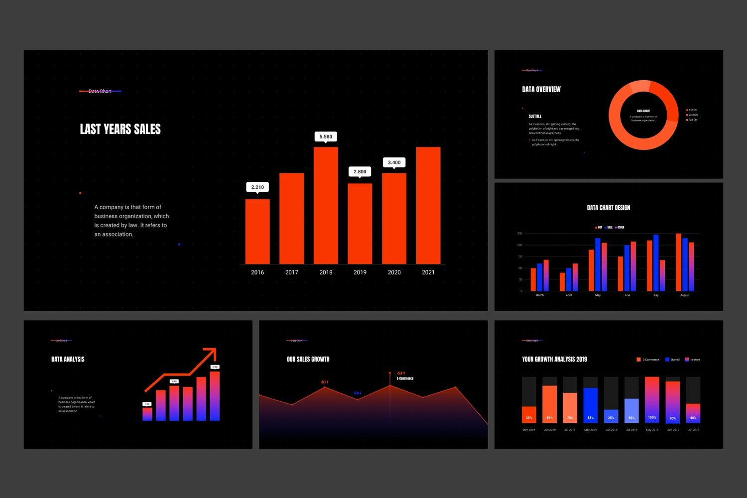 You can use different infographics which represent in this template.