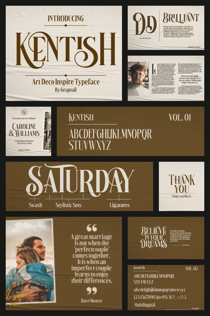Large unique letters, original color and high-quality graphics of this font will surprise everyone.