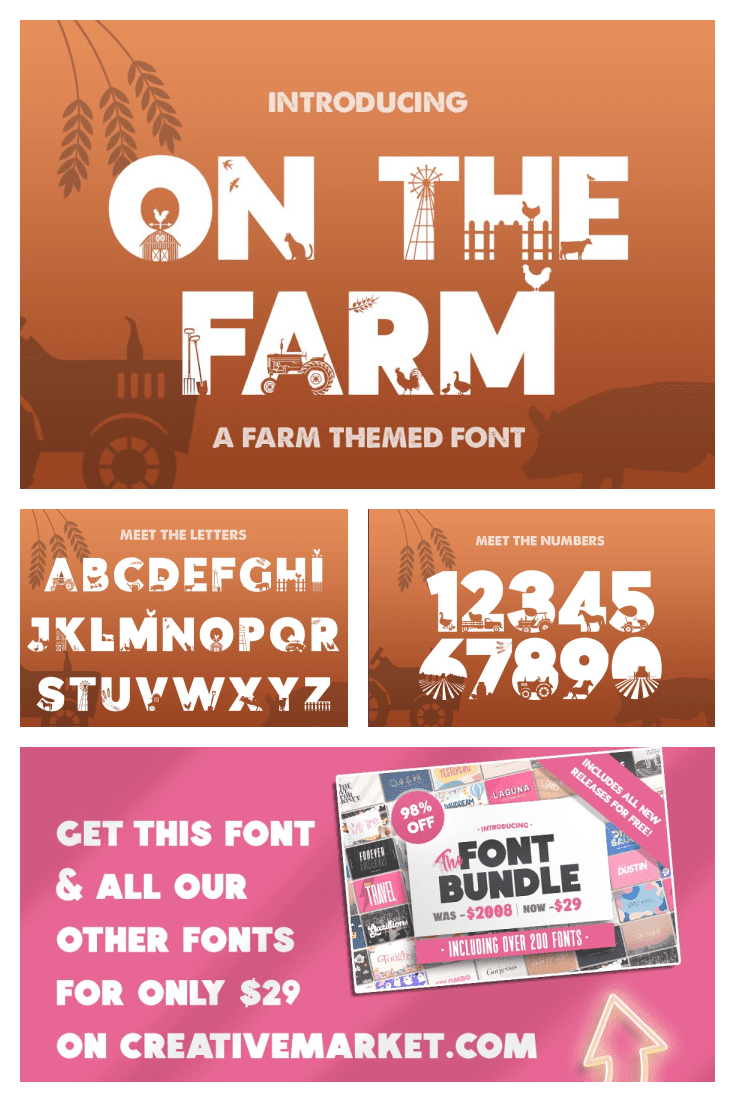 Great agrarian font. It is original and unique.