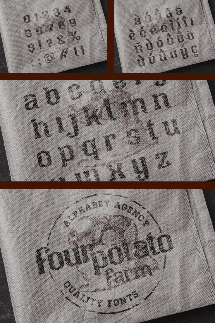 A sturdy typeface that will last on texture for a long time.