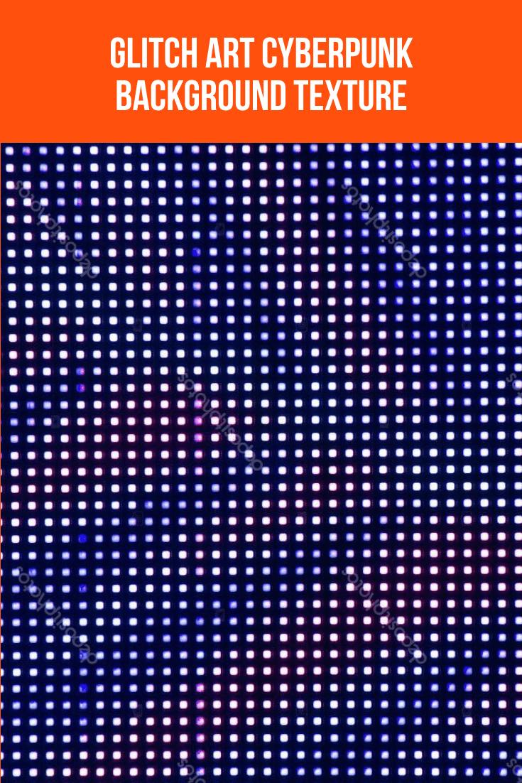 Glitch Art Cyberpunk Background Texture.