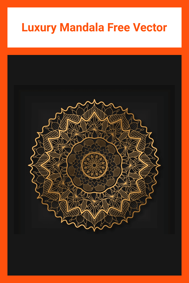 Luxury mandala from premium class. The golden lines looks very stylish on a black background.