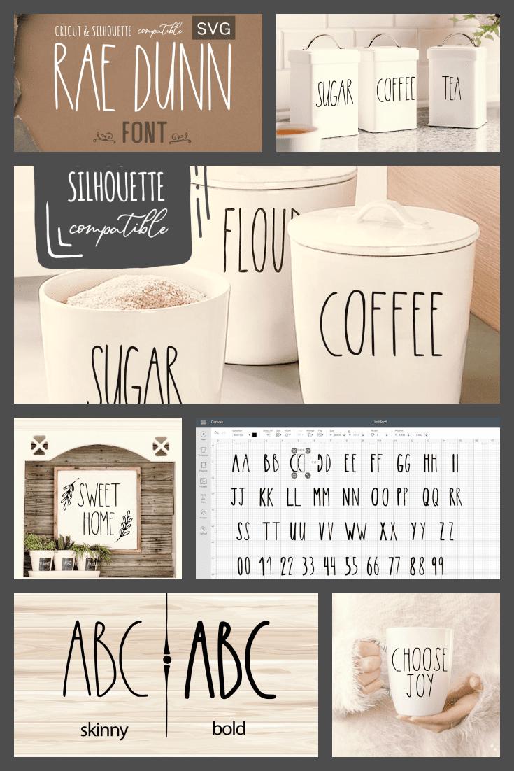 A crisp font with crisp lines. It's a great option for tough textures.