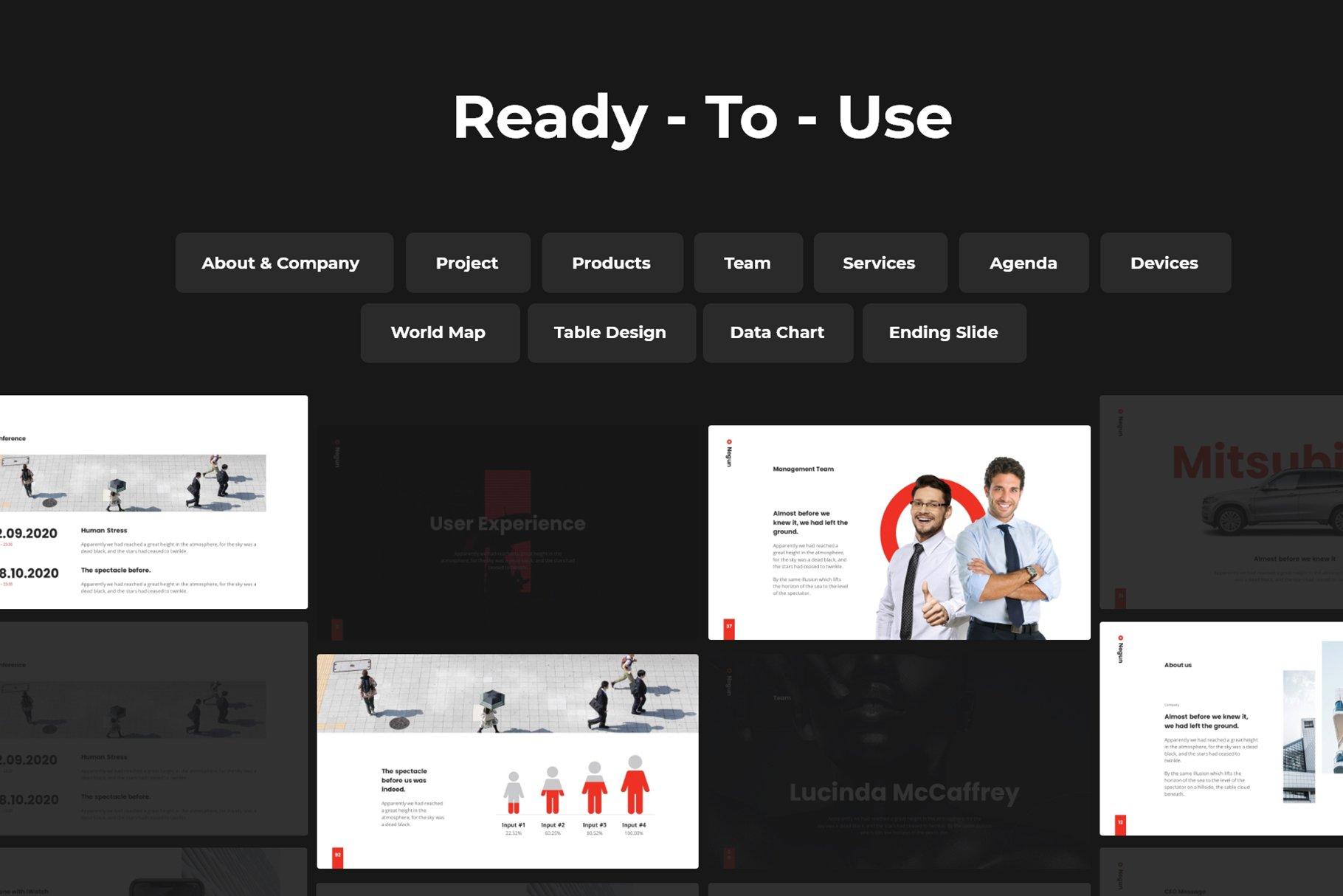 Flexibility design help you to create an amazing presentation.