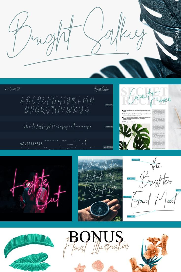 Deciduous, rich and floral font.