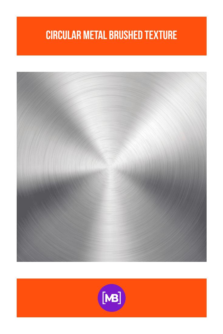 Circular metal brushed texture.