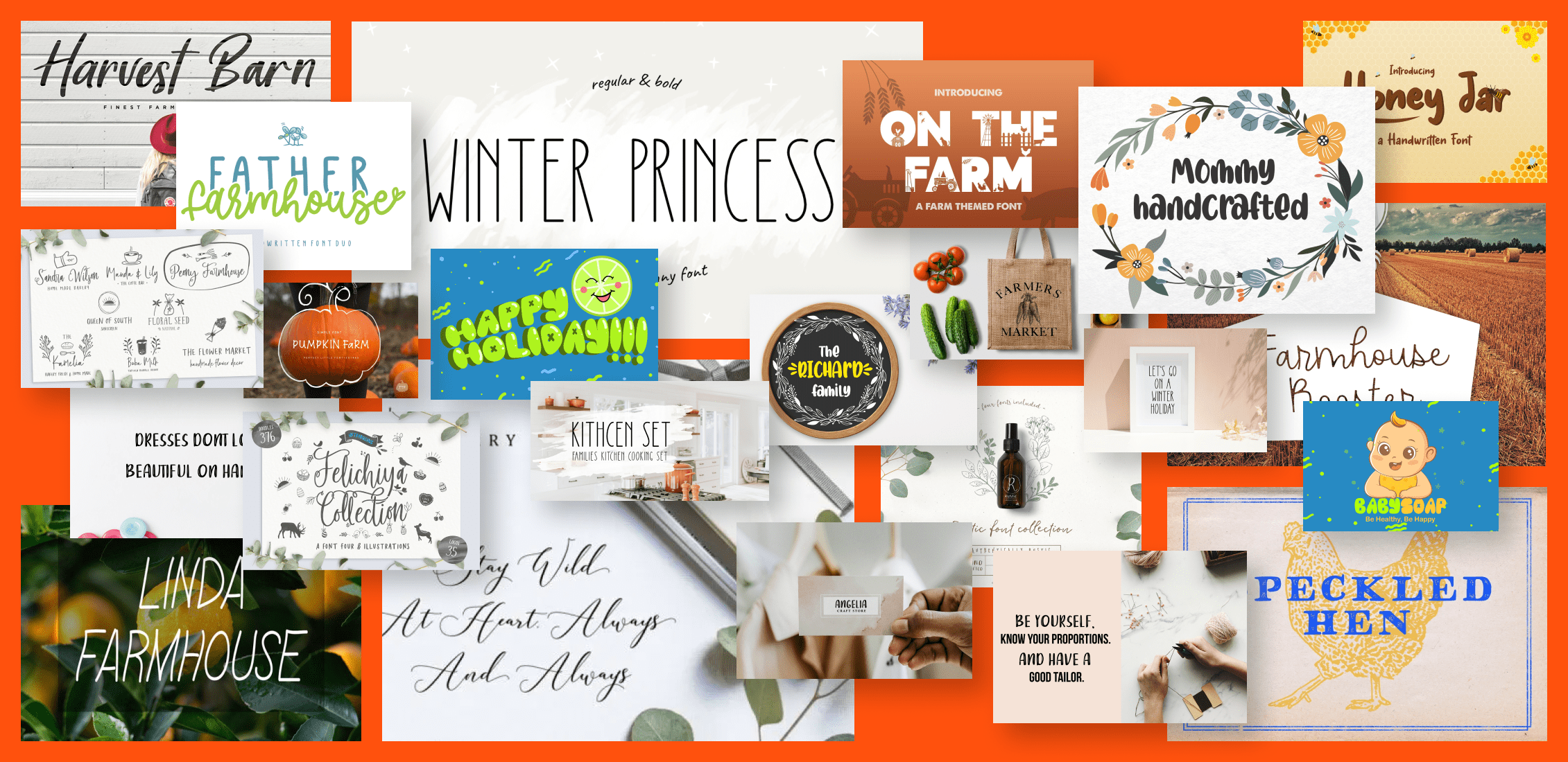 Inspiring Free and Premium Farmhouse Fonts Example.