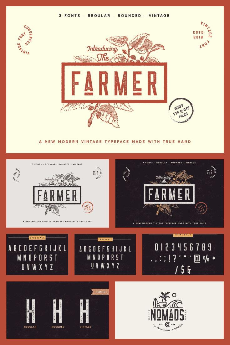 A font for modern farmers. It will add uniqueness to the brand and make it stand out from the crowd.