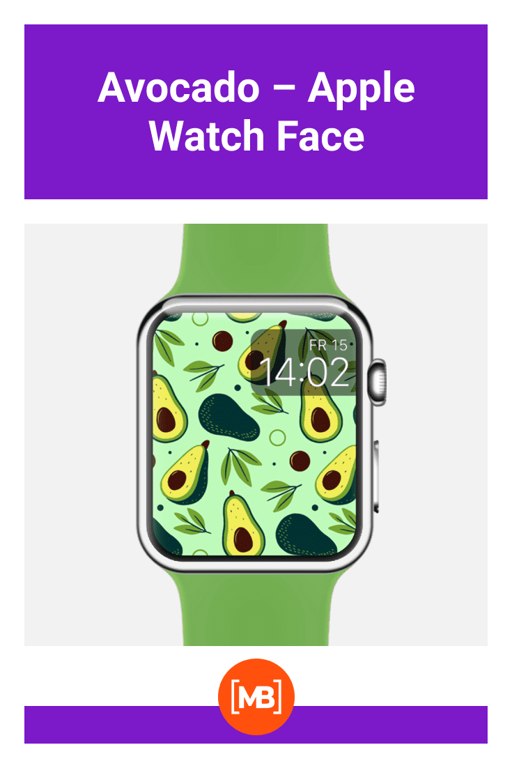 For fans of a healthy lifestyle, this is the perfect watch face - with an avocado.