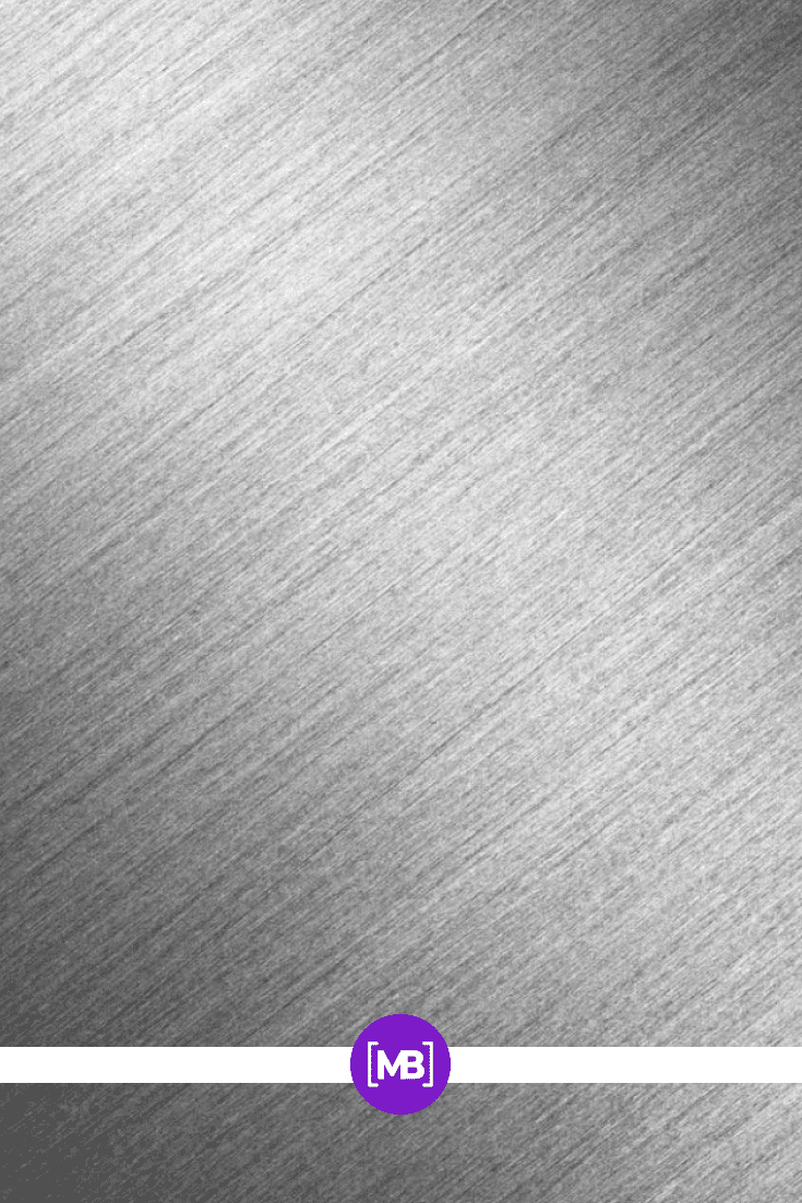 Brushed metal alloy surface texture.
