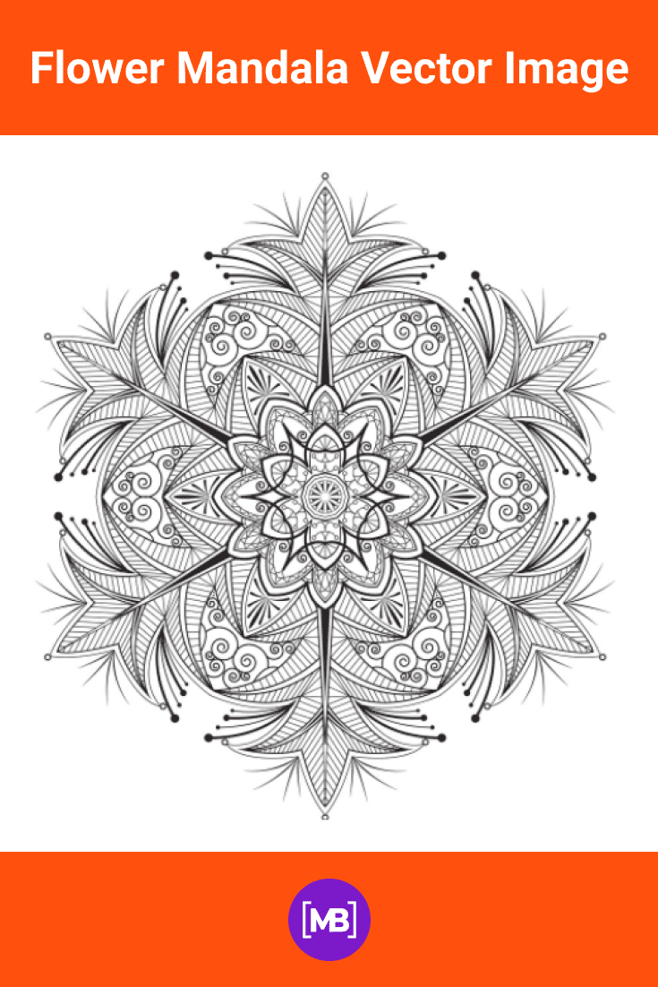 Original mandala in gray. More like a fluffy snowflake.