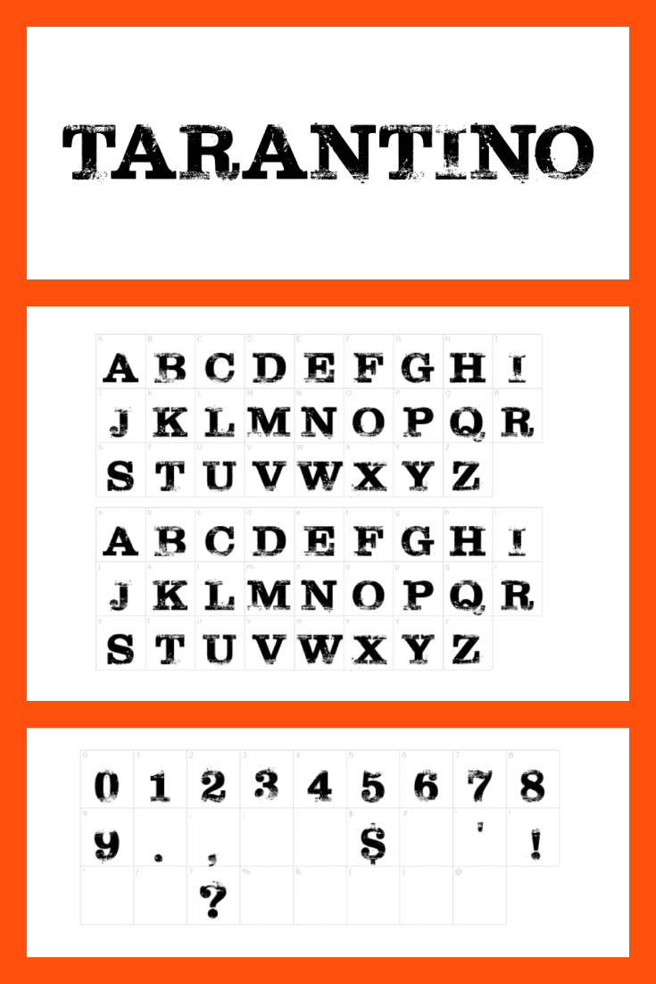 The font is similar to the Tarantino style, where everything is thought out - from the music on the characters' phone to nail polish.