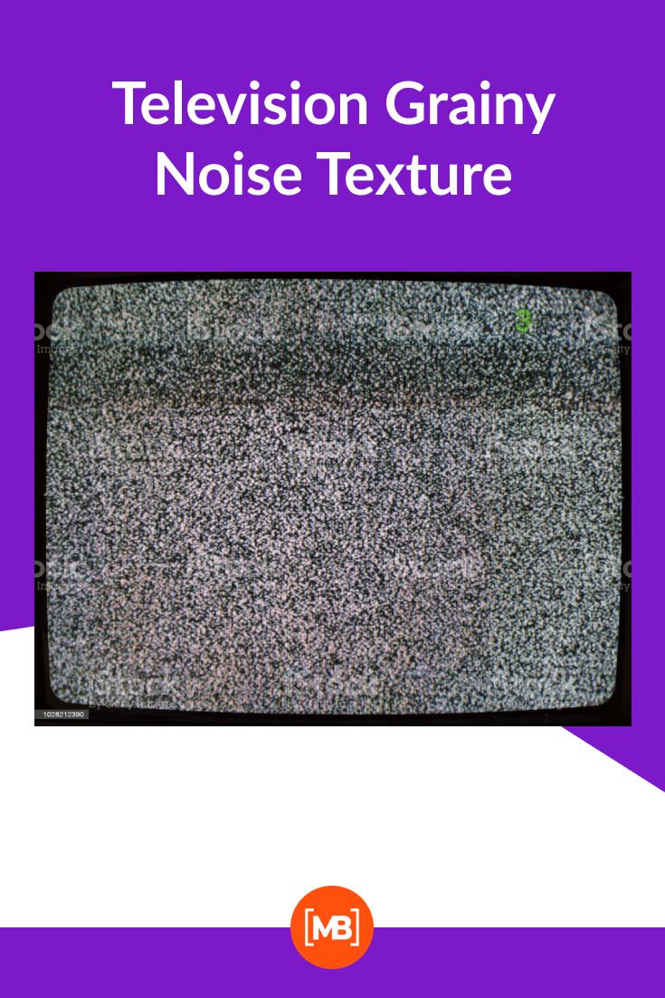 Television Grainy Noise Texture.