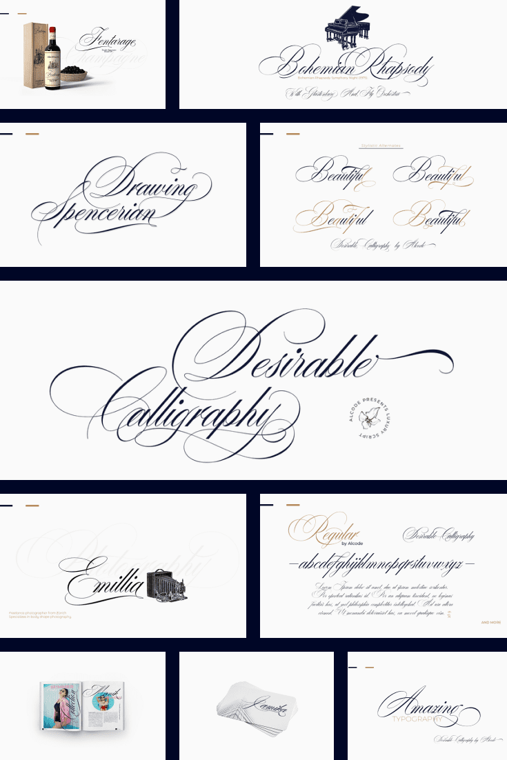 Delicious font with subtle curls and thin lines.